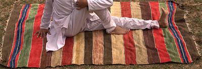 tapis de yoga en coton plissant